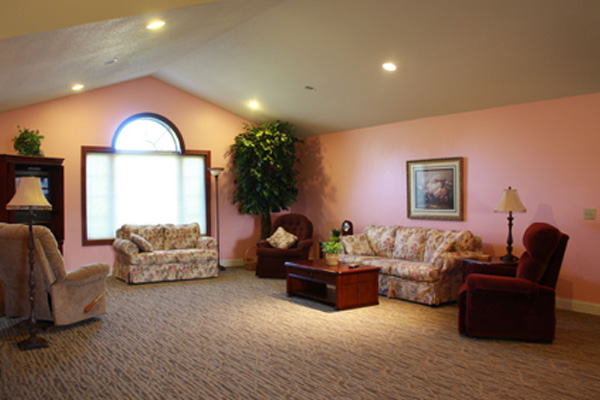 Living room at Home Front First Assisted Living